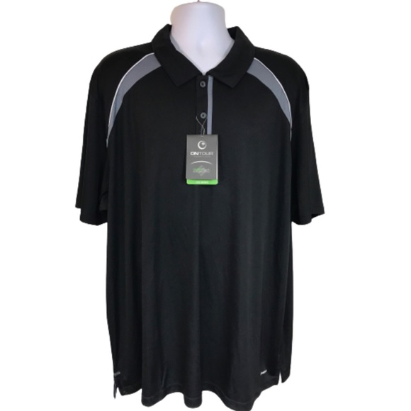 OnTour Black Polo Shirt Golf 3XL New with tags men